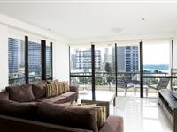 2 Bedroom Apartment Lounge - Paradise Centre Apartments