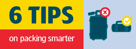Infographic: 6 Tips on Packing Smarter