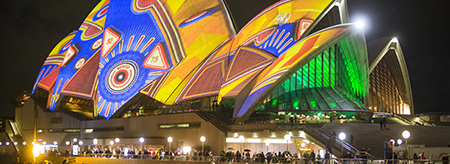 For light, sound and ideas, book accommodation for Vivid Sydney