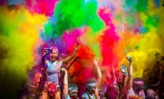 Get bold and bright with the Colour Run in Sydney.