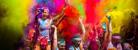 Race through a rainbow at the Sydney Colour Run 2014