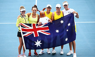 The Fed Cup semifinal will be held in Brisbane over the Easter weekend.