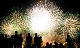 Celebrate New Year's Eve in Melbourne with a spectacular fireworks display.