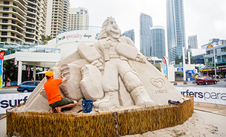 Head to Surfers Paradise for the sand sculpting champsionships