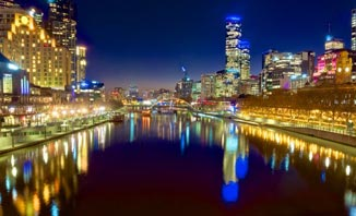 The Yarra River is is best experienced from a cruise ship.