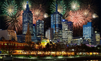 Enjoy the fireworks display in Melbourne this winter.