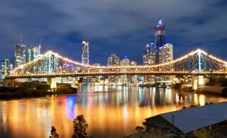 The Brisbane Story Bridge is an iconic landmark.