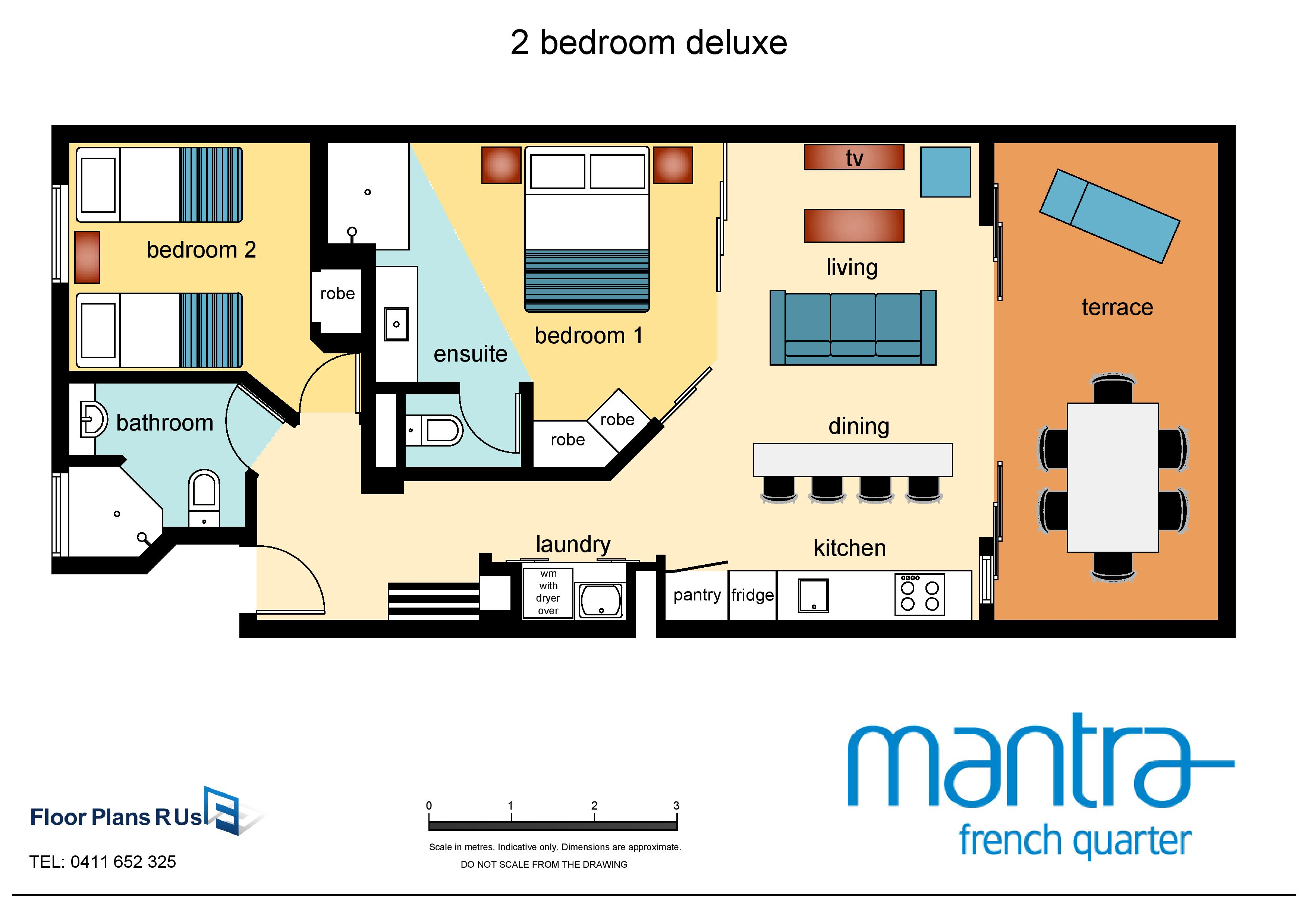 Room types mantra french quarter for Floor plan in french
