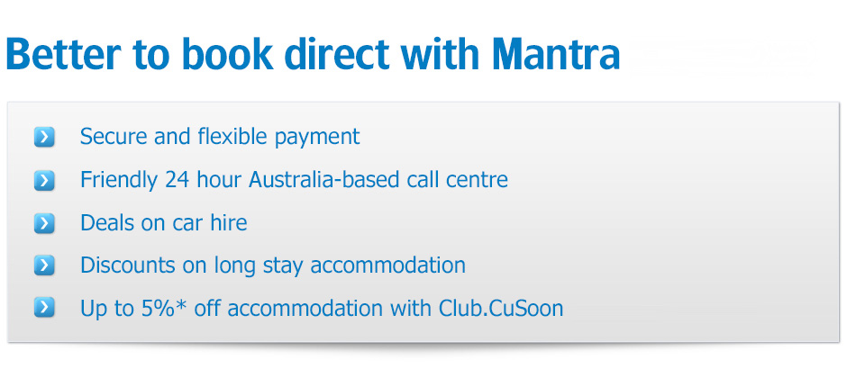 Better to book direct with mantra.com.au