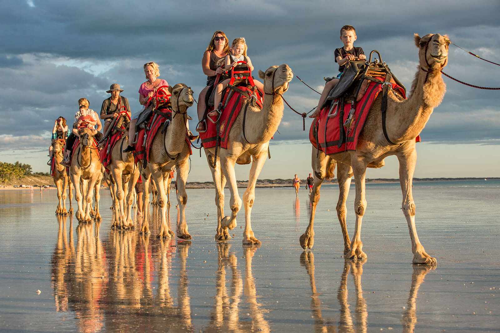 Camel rides on  Cable Beach, Broome