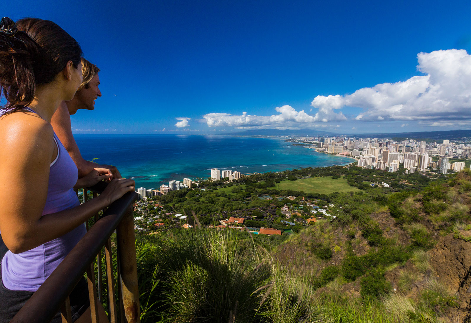 View of Waikiki  and Honolulu from Diamond Head