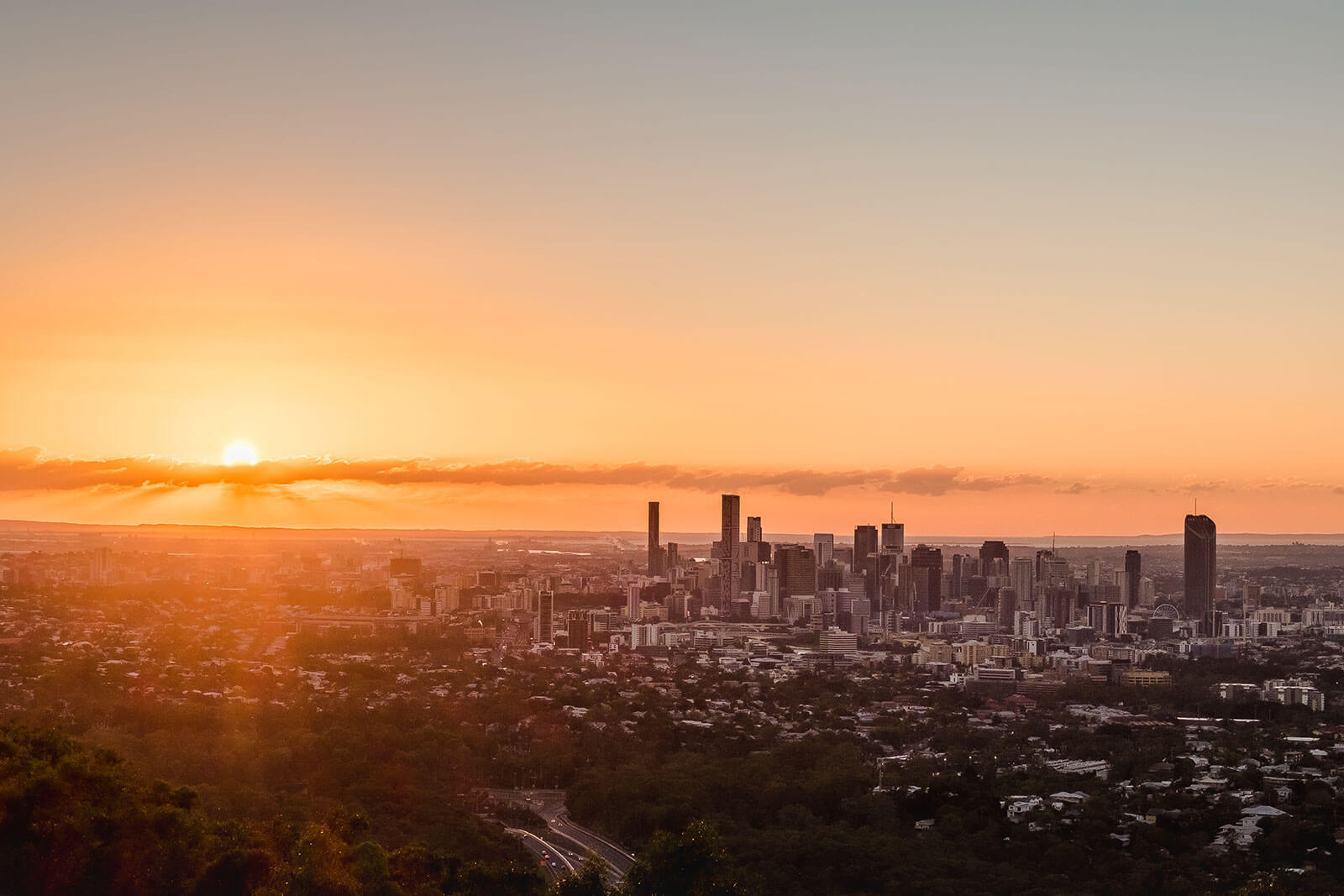 City views from  Mount Coot-tha