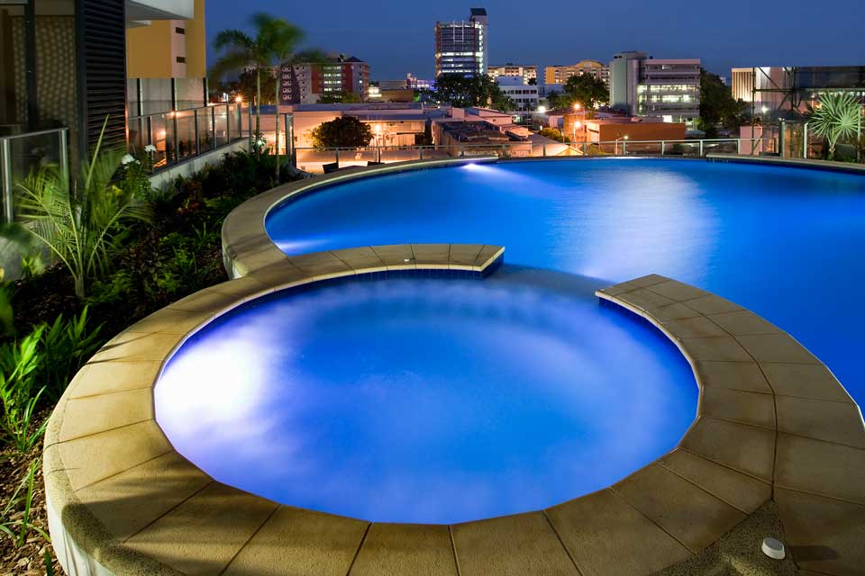 Sixth floor resort style pool and spa